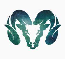 Aqua Rams Head Spirit Animal by ohdeer