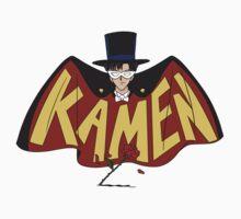 Retro Tuxedo Kamen Logo One Piece - Short Sleeve