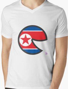 North Korea Smile Mens V-Neck T-Shirt