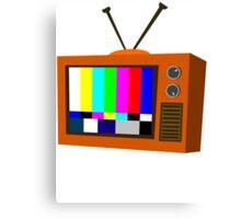 No Signal 60's TV! Canvas Print