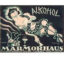 Alkohol - Silent Movie Poster Photographic Print