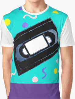 Movie Nights VHS Clothes and Poster Graphic T-Shirt