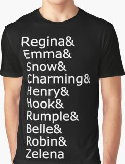 Once Upon A Time - Names (White) Graphic T-Shirt
