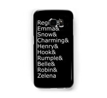 Once Upon A Time - Names (White) Samsung Galaxy Case/Skin