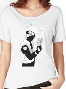 Kakashi with his Book Women's Relaxed Fit T-Shirt