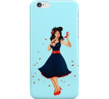 Retro Pinup Autumn Girl iPhone Case/Skin