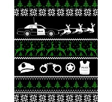 Police Christmas Sweater Photographic Print