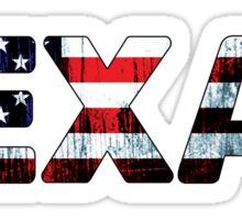 TEXAS AMERICAN FLAG DALLAS HOUSTON FORT WORTH WACO SAN ANTONIO AUSTIN EL PASO TYPOGRAPHY Sticker