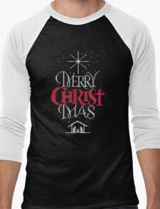 Granny knit me an ugly Christmas sweater - Religious Christian - Merry Christ Mas Men's Baseball ¾ T-Shirt