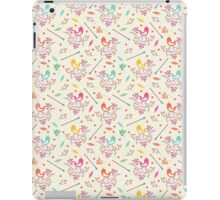 Seamless floral pattern with birds  iPad Case/Skin