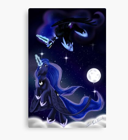 Midnight's Tears Canvas Print