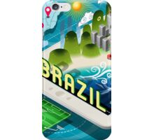 Isometric Infographic of Brazil on Tablet iPhone Case/Skin