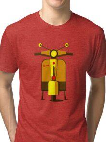 Front View Vectorized Vespa Tri-blend T-Shirt