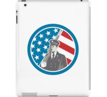 Soldier Military Serviceman Holding Rifle Circle Retro iPad Case/Skin