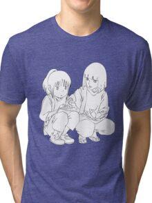 Chihiro and Haku Tri-blend T-Shirt