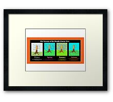 The Seasons of the Doodle Charm Tree Framed Print