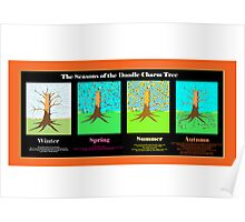 The Seasons of the Doodle Charm Tree Poster