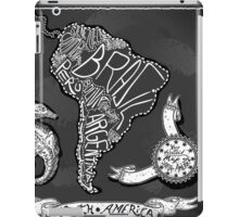 South America Map on Vintage Handwriting BlackBoard iPad Case/Skin