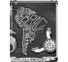 South America Map on Vintage Handwriting BlackBoard iPad Case/Skin