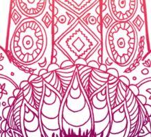 Sunset Hamsa Hand Design Sticker