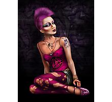 Punk girl in pink Photographic Print