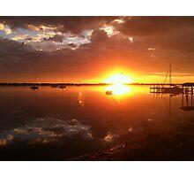 Sunrise on River Road Photographic Print