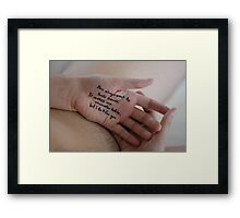 You Always Want To Hold Hands Framed Print