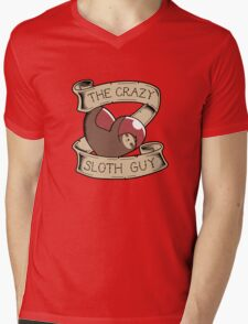 The Crazy Sloth Guy Mens V-Neck T-Shirt