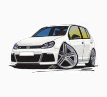 VW Golf (Mk6) R (5dr) White by Richard Yeomans