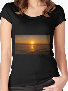 Sunset beach Women's Fitted Scoop T-Shirt
