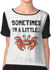 Sometimes A Crab Chiffon Top