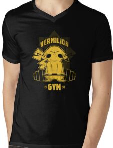 Vermillion Gym Mens V-Neck T-Shirt
