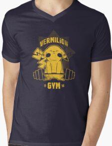Vermillion Gym Mens V-Neck T-Shirt