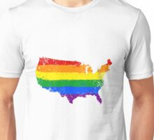 Rainbow USA Unisex T-Shirt
