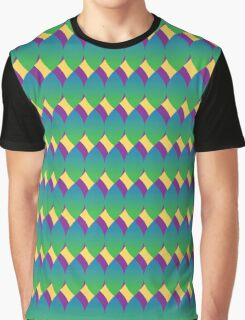 Peacock Leaf Pattern Graphic T-Shirt