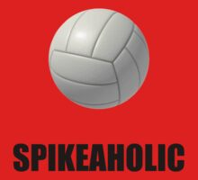 Volleyball Spikeaholic Baby Tee