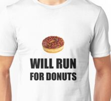 Will Run For Donuts Unisex T-Shirt
