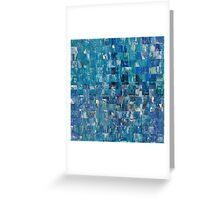 Abstract blue 4 Greeting Card