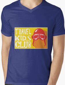 Travel Kids Club Merch Mens V-Neck T-Shirt