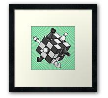 Rubik's chess Framed Print