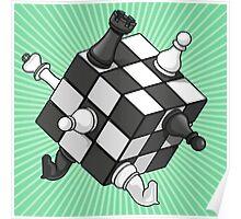 Rubik's chess Poster