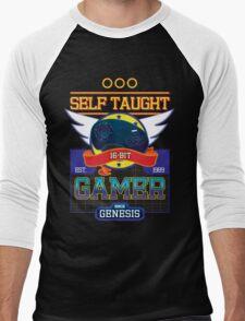 Self Taught Gamer of the 16-Bit Era Men's Baseball ¾ T-Shirt