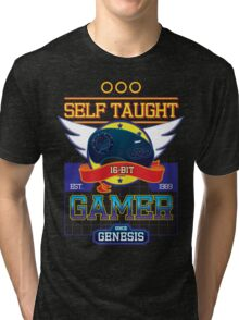 Self Taught Gamer of the 16-Bit Era Tri-blend T-Shirt