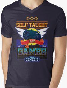 Self Taught Gamer of the 16-Bit Era Mens V-Neck T-Shirt