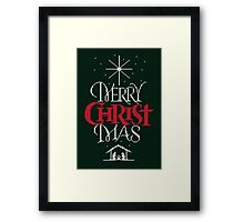 Ugly Christmas Sweater Greeting Card - Religious Christian - Merry Christ Mas Framed Print