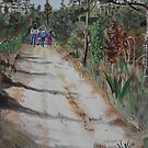 Girl Scouts on the trail by Wendy Crouch
