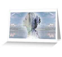 Double exposure Greeting Card