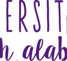 University of North Alabama Sticker