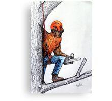 Arborist Tree Surgeon Lumberjack Logger Stihl chainsaw Canvas Print