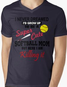 I Never Dreamed Softball Mens V-Neck T-Shirt